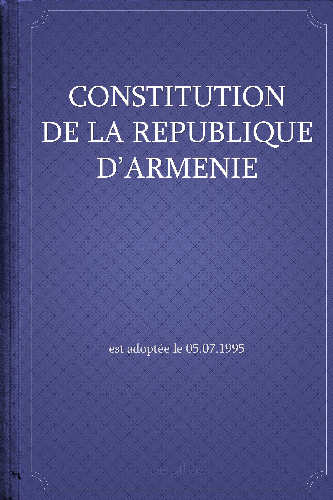 Constitution de la République d'Arménie