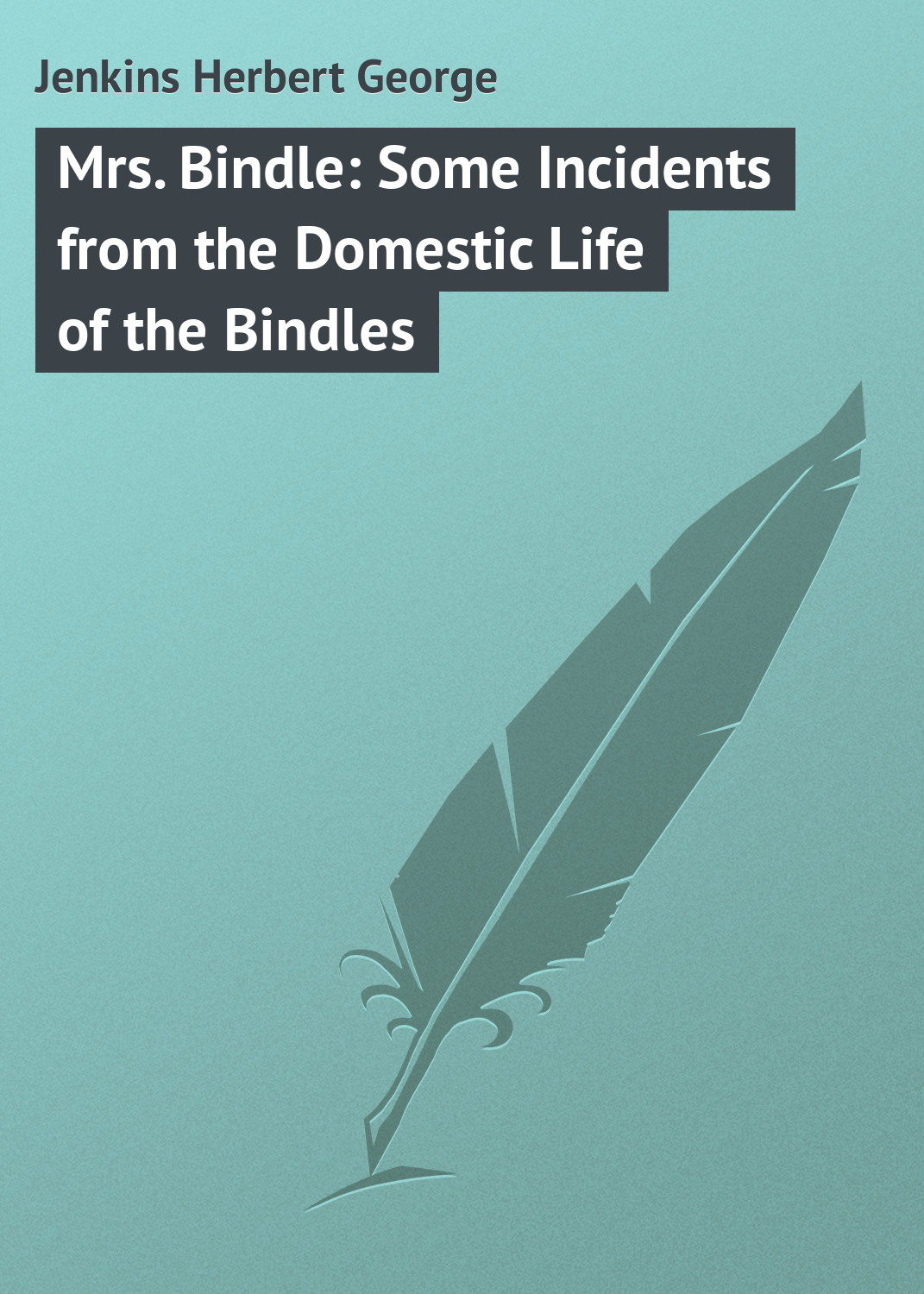 Jenkins Herbert George Mrs. Bindle: Some Incidents from the Domestic Life of the Bindles