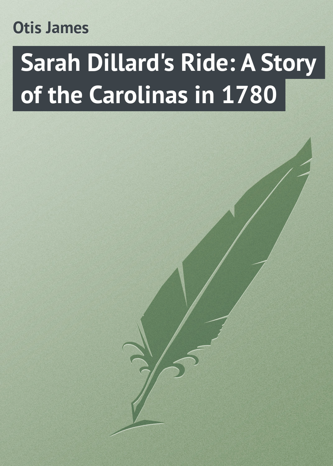 Otis James Sarah Dillard's Ride: A Story of the Carolinas in 1780 otis james benjamin of ohio a story of the settlement of marietta