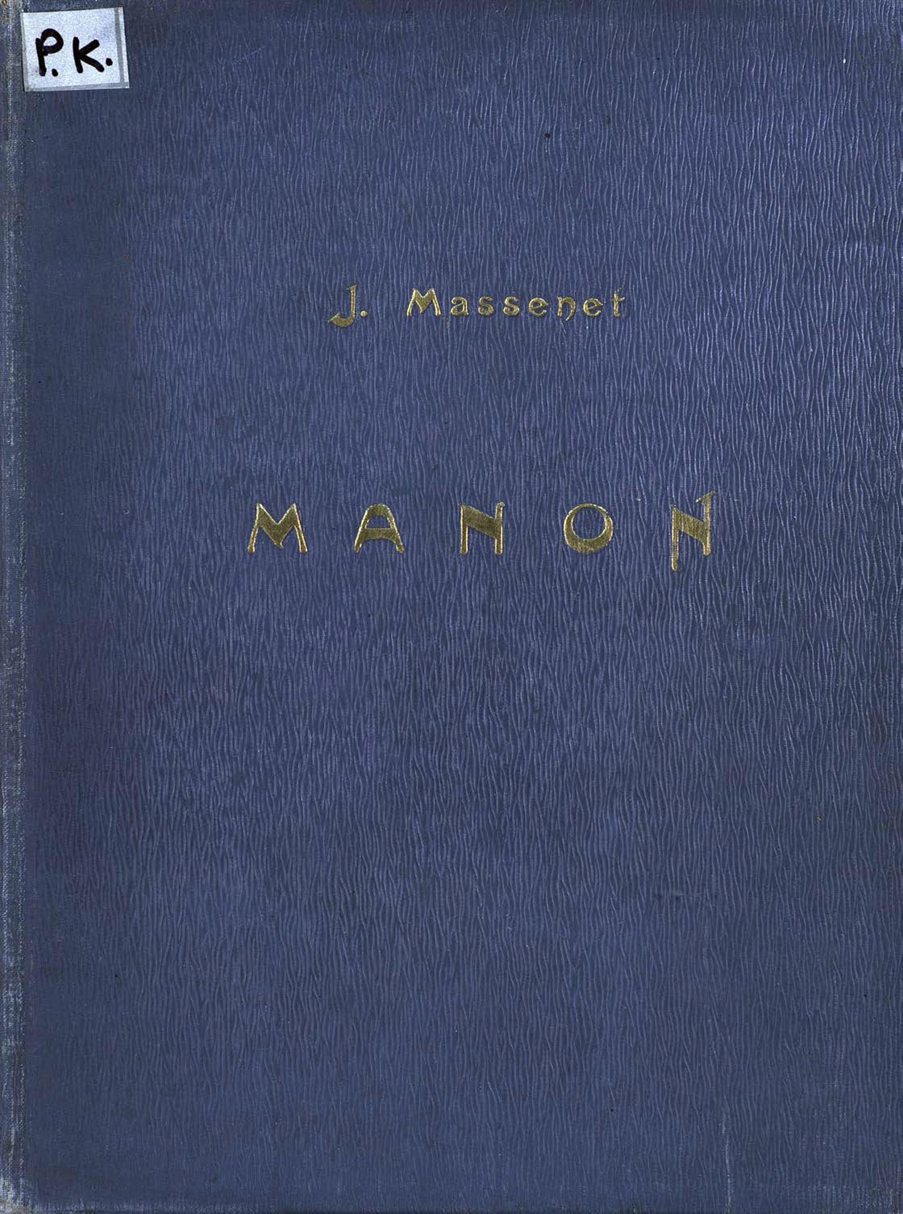 Жюль Массне Manon massenet adam fischer manon