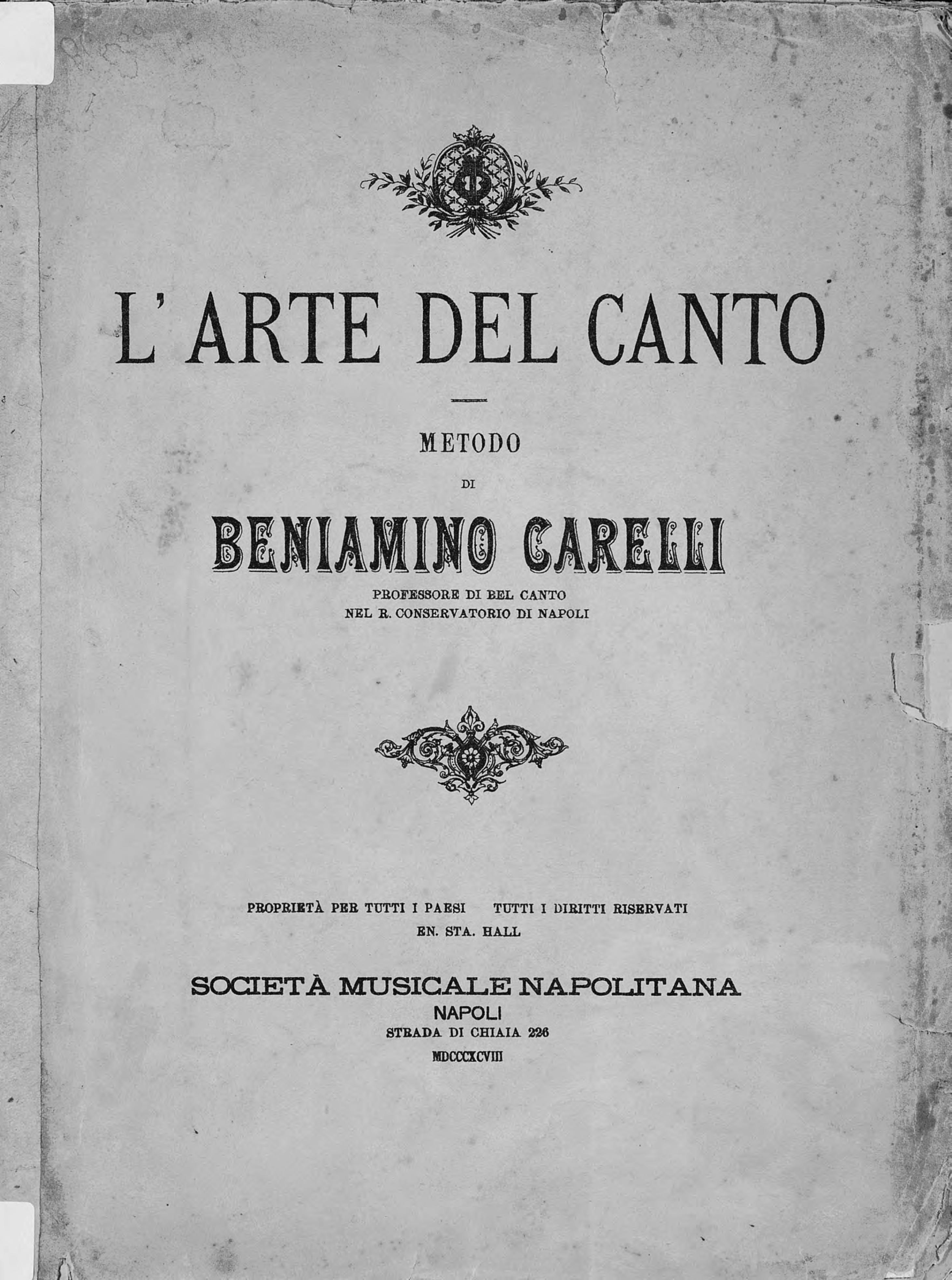 Б. Карелли L'arte del Canto