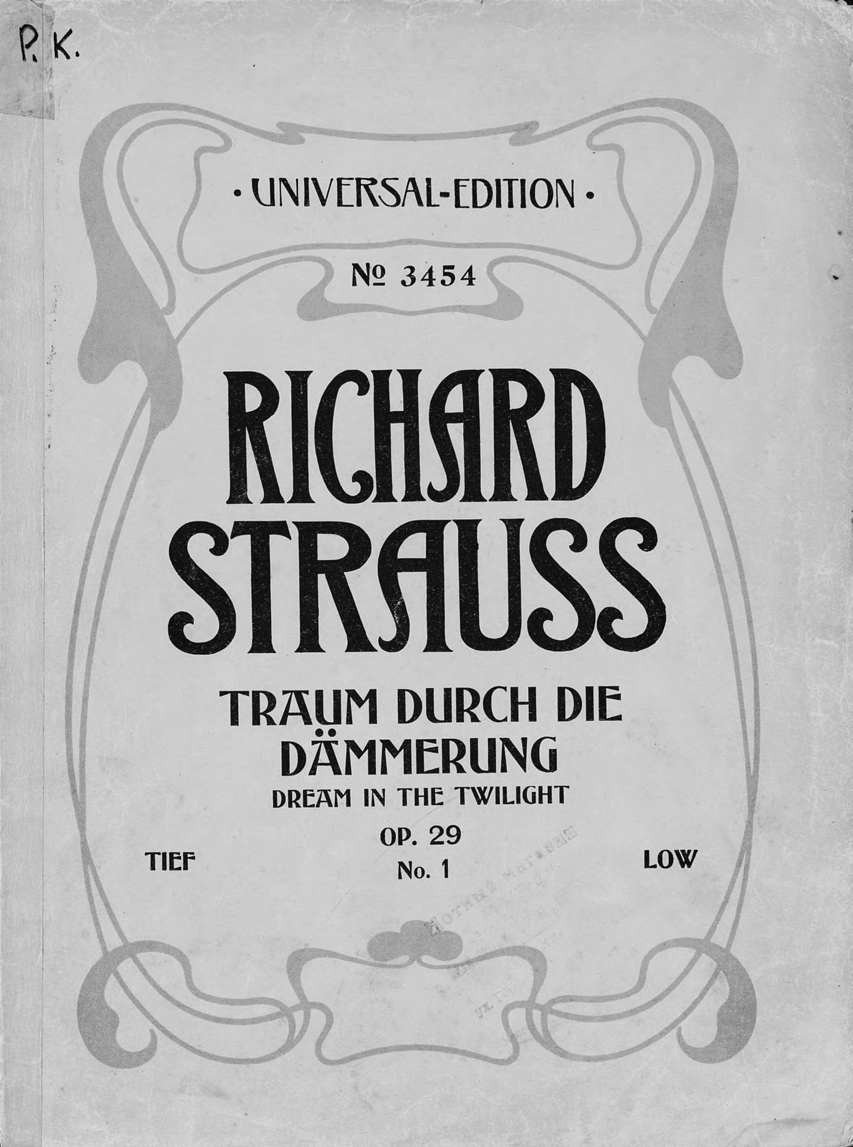 Рихард Штраус Traum durch die Dammerung