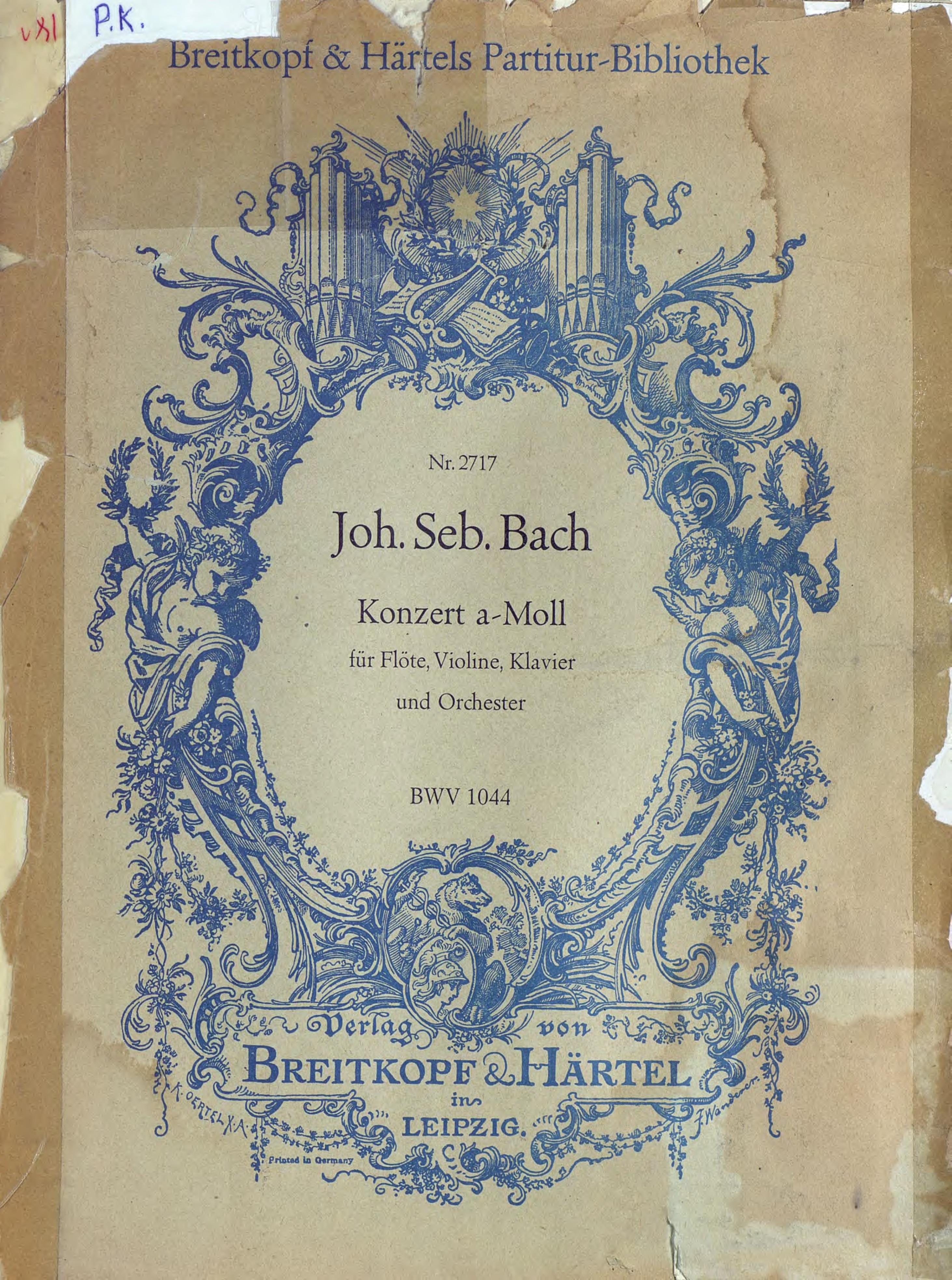Иоганн Себастьян Бах Konzert a-Moll fur Flote, Violine, Klavier und Orchester t aulin kleine suite fur violine und pianoforte