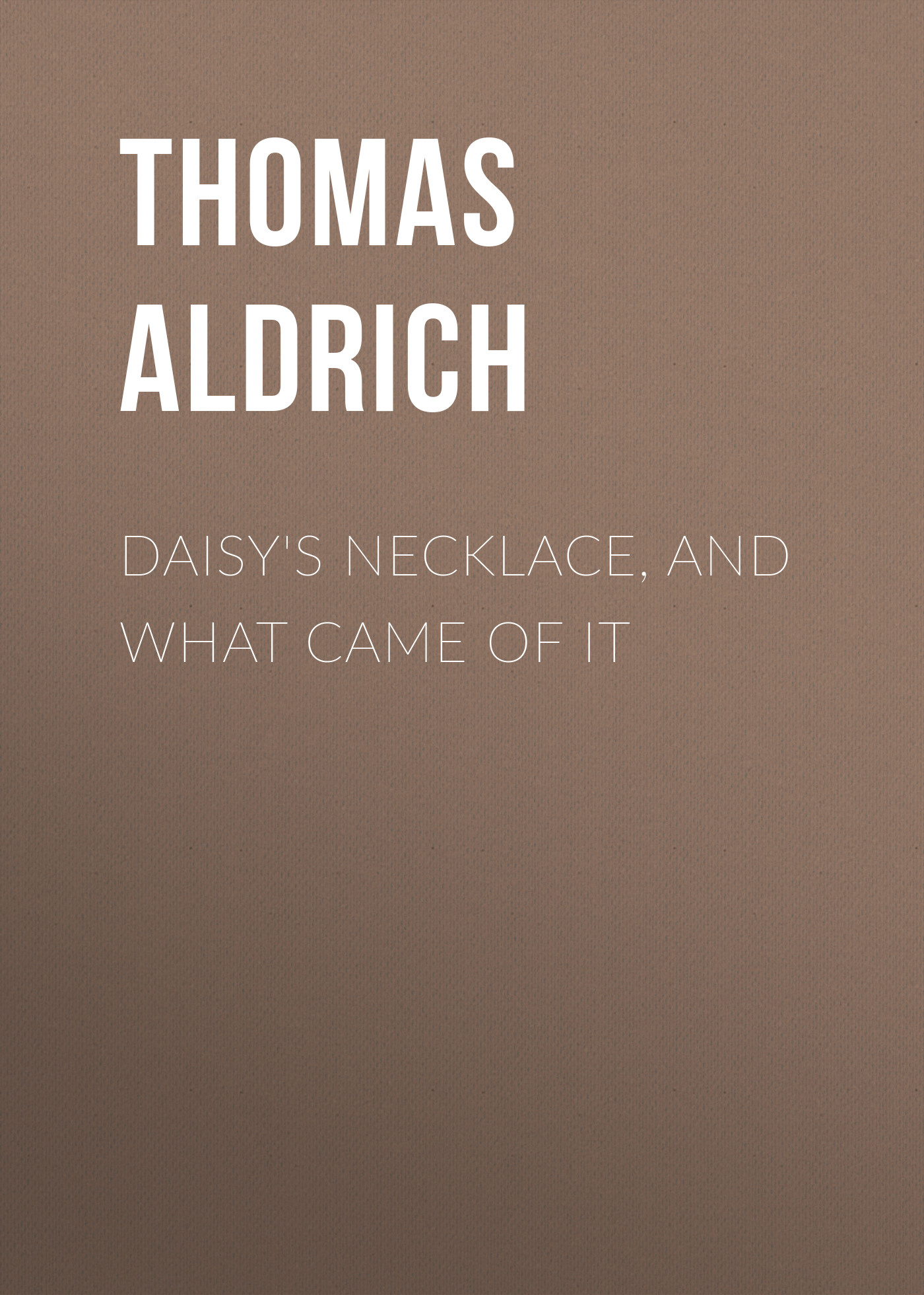 Aldrich Thomas Bailey Daisy's Necklace, and What Came of It faux pearl rhinestone teardrop necklace and earrings