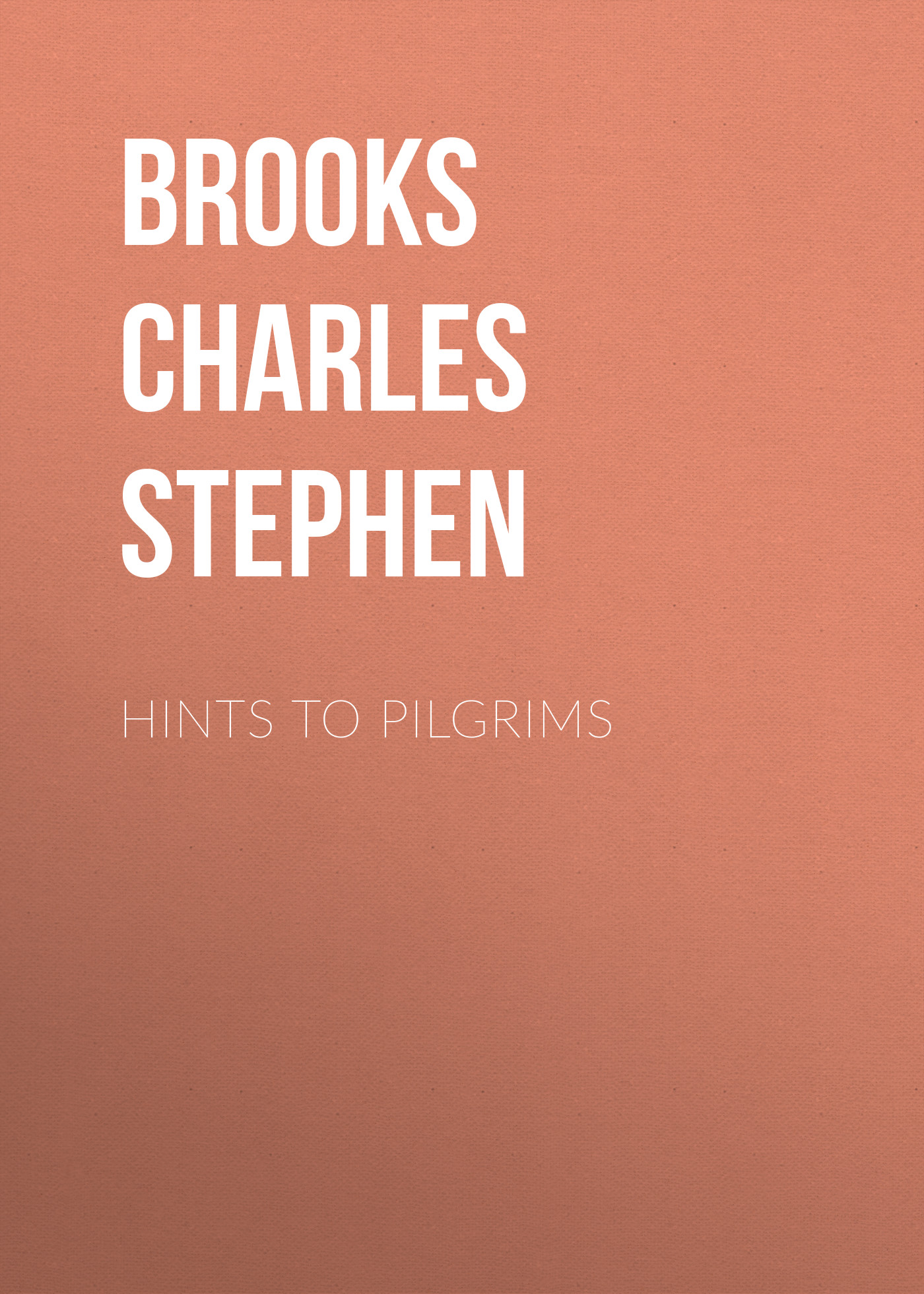 Brooks Charles Stephen Hints to Pilgrims strange pilgrims
