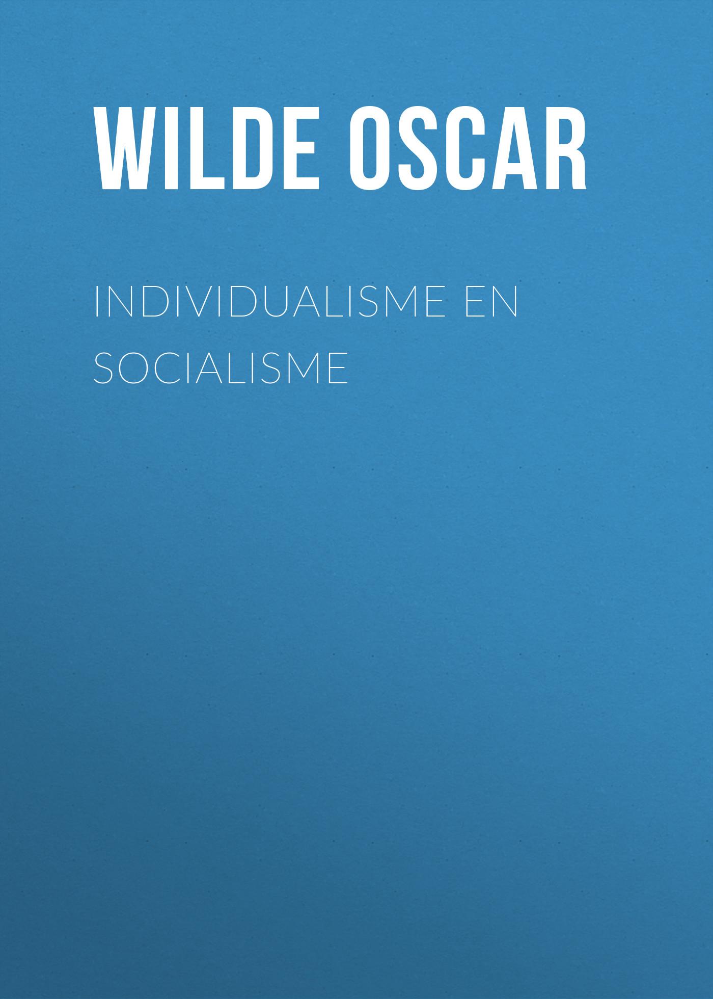 Individualisme en socialisme