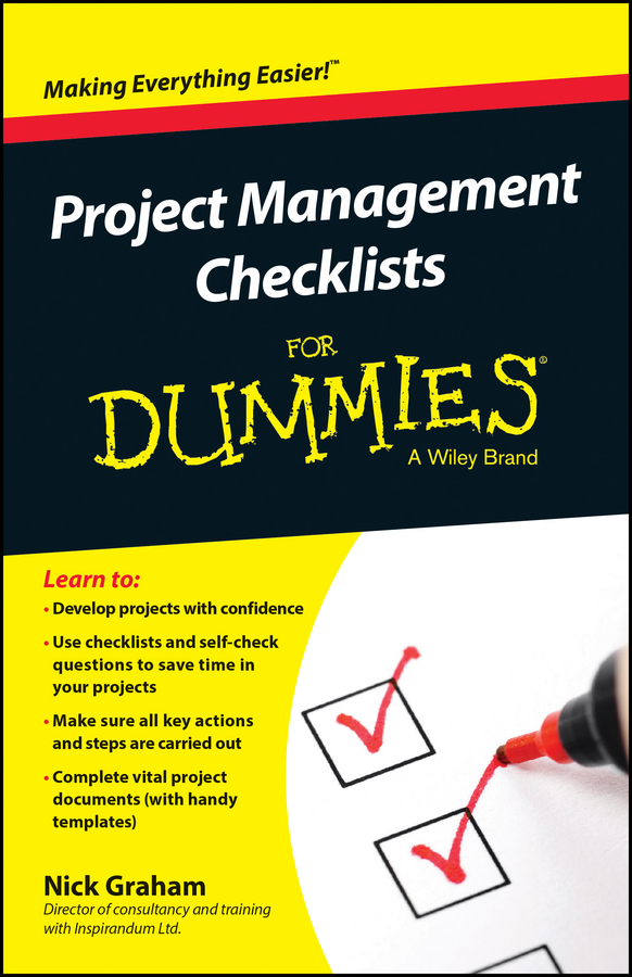 Nick Graham Project Management Checklists For Dummies harold kerzner project management a systems approach to planning scheduling and controlling