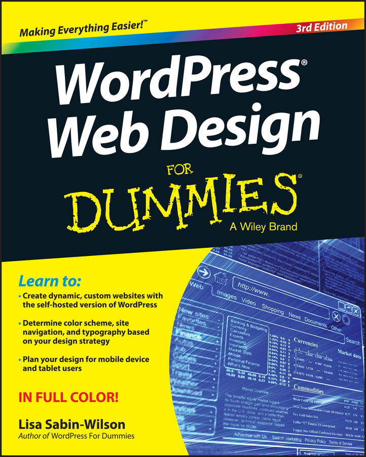 Lisa Sabin-Wilson WordPress Web Design For Dummies wordpress for dummies