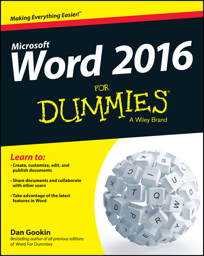 Dan Gookin Word 2016 For Dummies word 2010 elearning kit for dummies