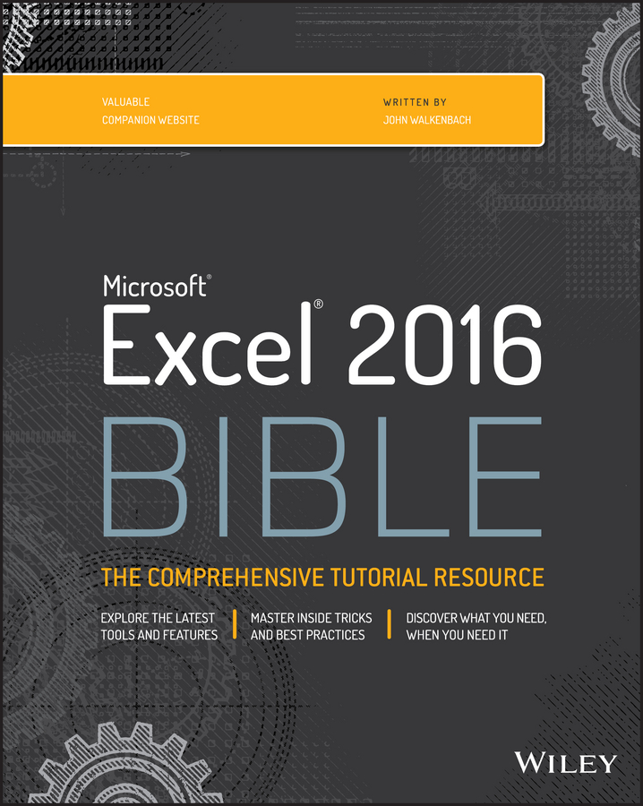 John Walkenbach Excel 2016 Bible цена 2017