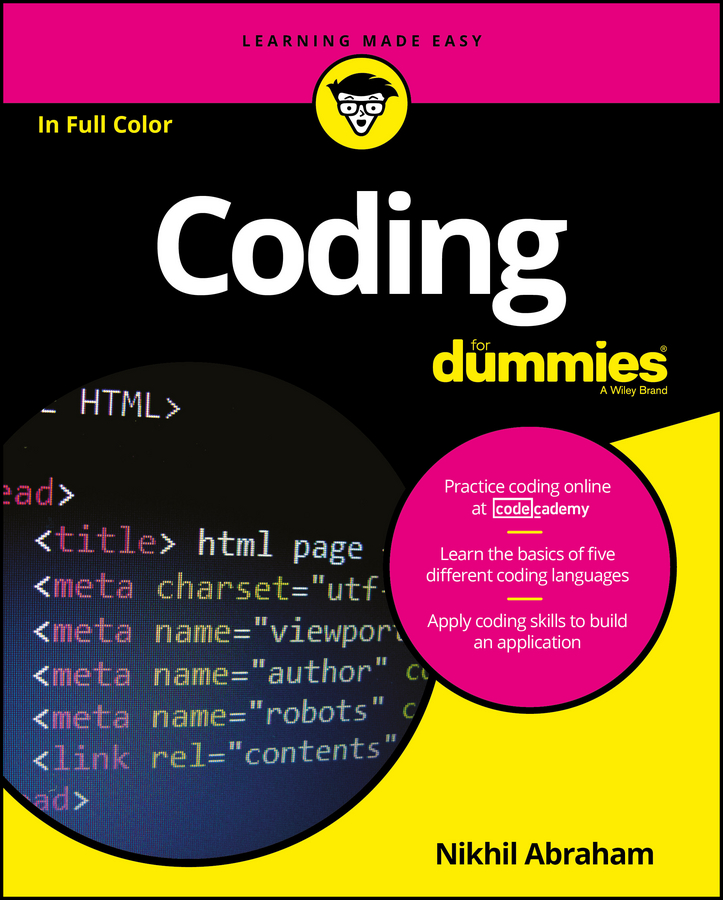 Nikhil Abraham Coding For Dummies kevin beaver hacking for dummies