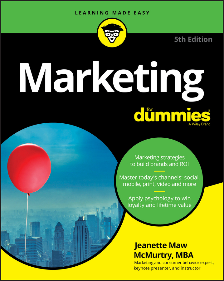 Jeanette McMurtry Marketing For Dummies damien d mcloughlin marketing 1st international edition wileyplus learning space card
