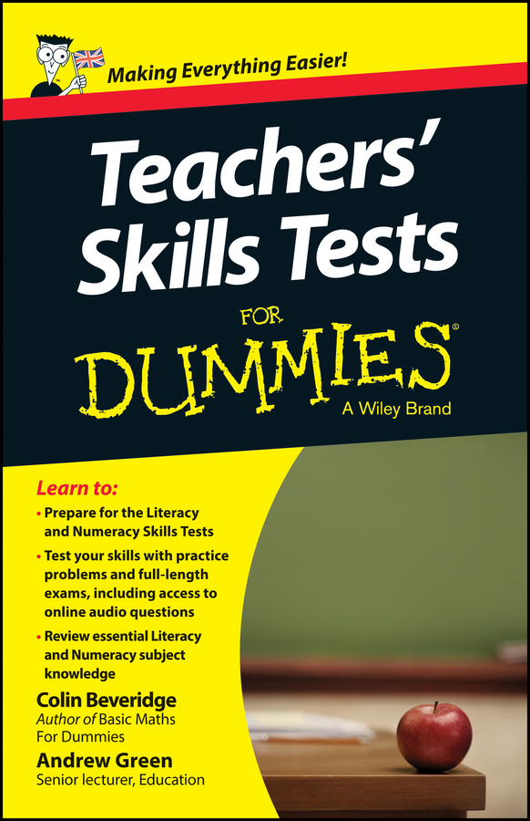 Фото - Andrew Green Teacher's Skills Tests For Dummies gre for dummies with online practice tests