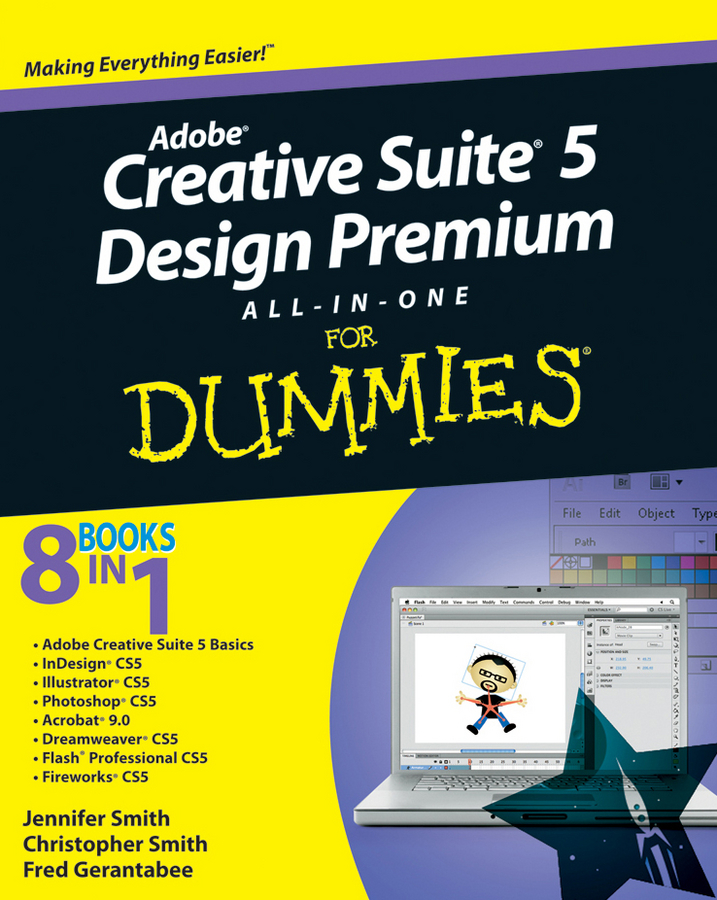 Christopher Smith Adobe Creative Suite 5 Design Premium All-in-One For Dummies partaker elite z13 15 inch made in china 5 wire resistive touch screen intel celeron 1037u oem all in one pc with 2 com