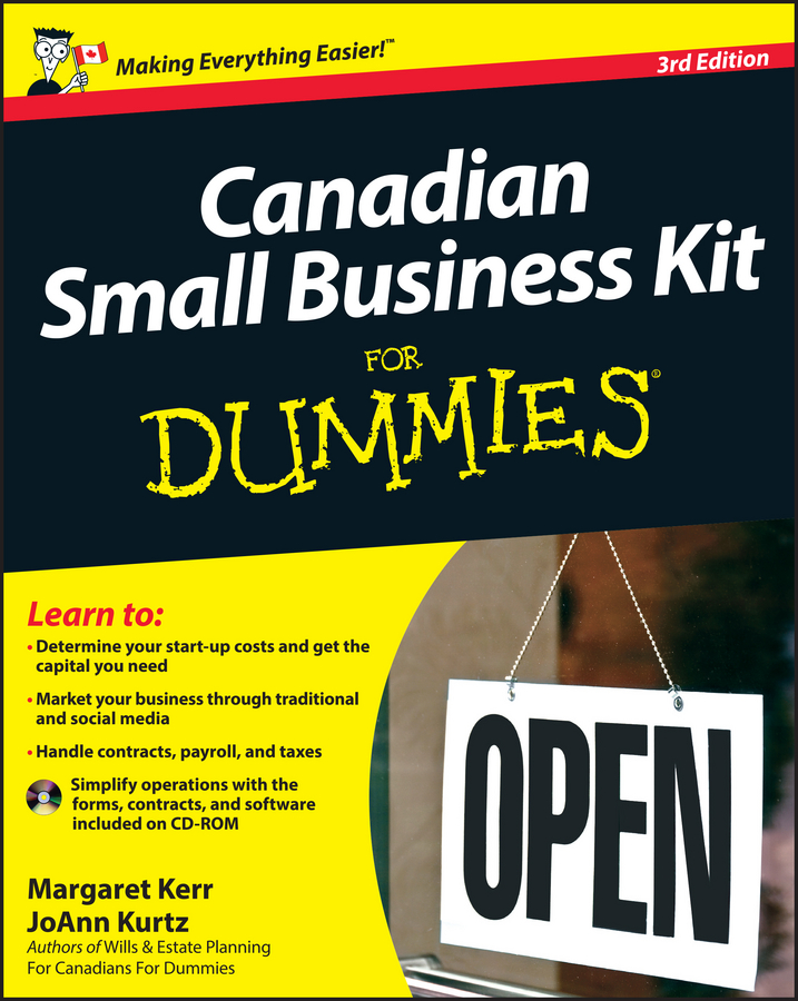 Margaret Kerr Canadian Small Business Kit For Dummies clive rich law for small business for dummies uk
