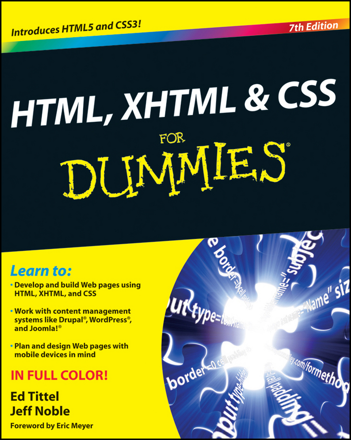 Ed Tittel HTML, XHTML and CSS For Dummies larsen rob beginning html and css