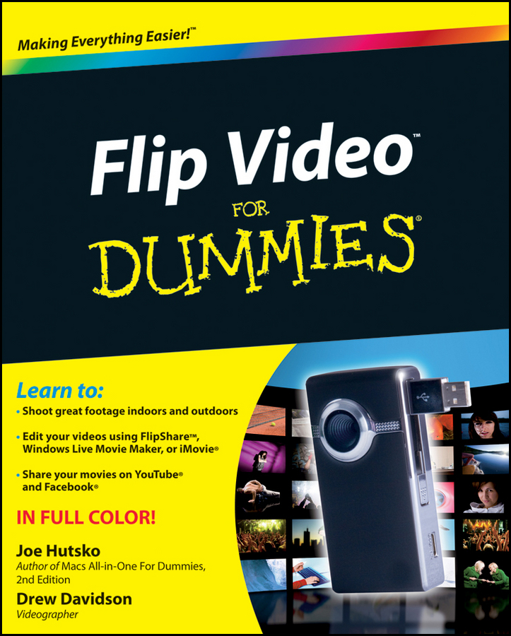 Joe Hutsko Flip Video For Dummies portable on camera led video light kit