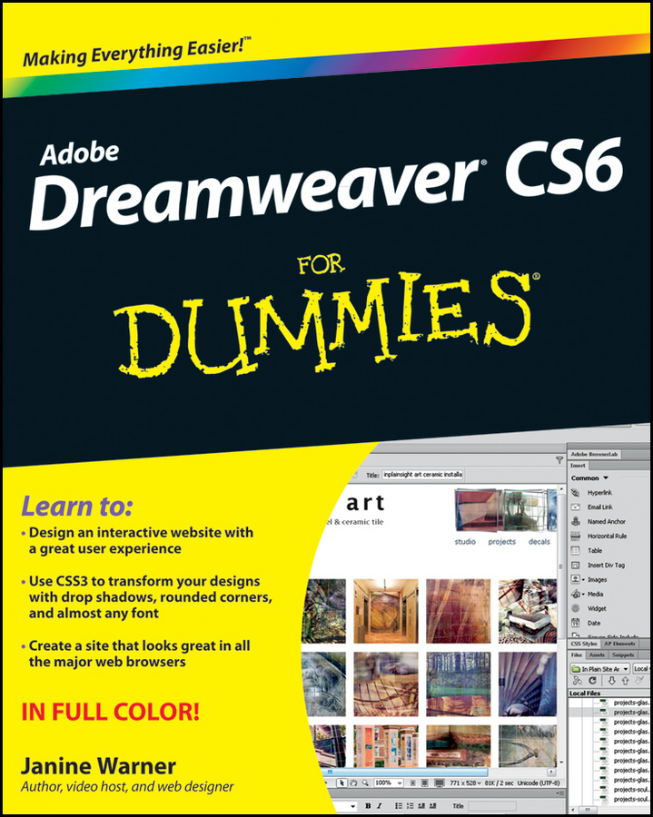 Janine Warner Dreamweaver CS6 For Dummies janine warner dreamweaver cs3 for dummies isbn 9780470175378