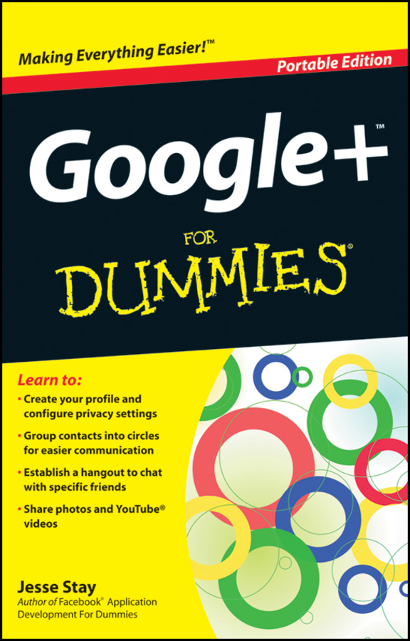 Jesse Stay Google+ For Dummies janine warner social media design for dummies