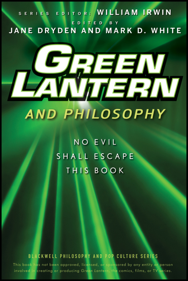 William Irwin Green Lantern and Philosophy. No Evil Shall Escape this Book green pentagram hair ring