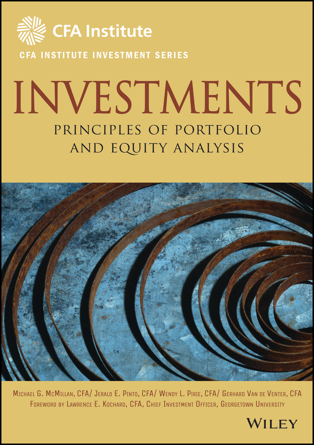 Michael McMillan Investments. Principles of Portfolio and Equity Analysis carole engle r aquaculture economics and financing management and analysis