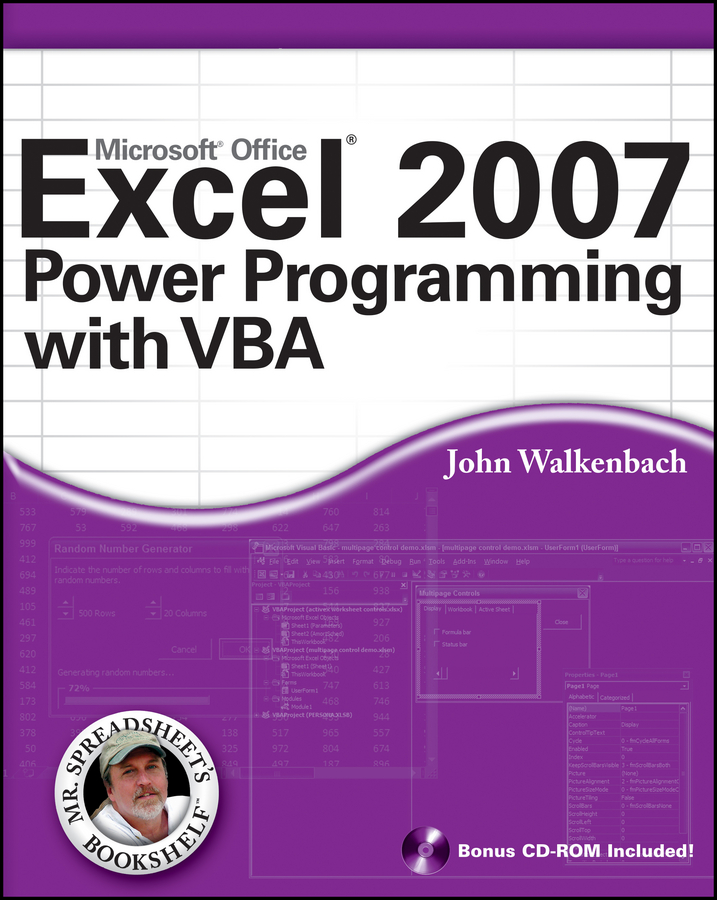 John Walkenbach Excel 2007 Power Programming with VBA john walkenbach excel vba programming for dummies