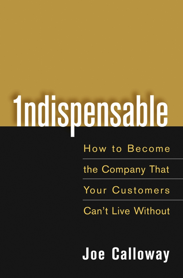 Joe Calloway Indispensable. How To Become The Company That Your Customers Can't Live Without strategy to customer loyalty building csr