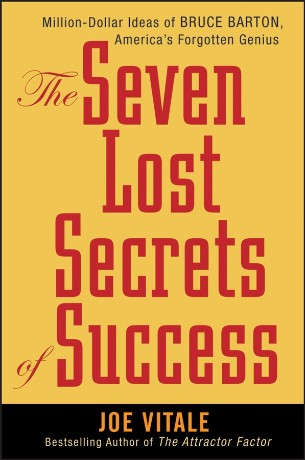 Joe Vitale The Seven Lost Secrets of Success. Million Dollar Ideas of Bruce Barton, America's Forgotten Genius new design 3040 cnc frame cnc 3040 mini lathe free tax to ru eu