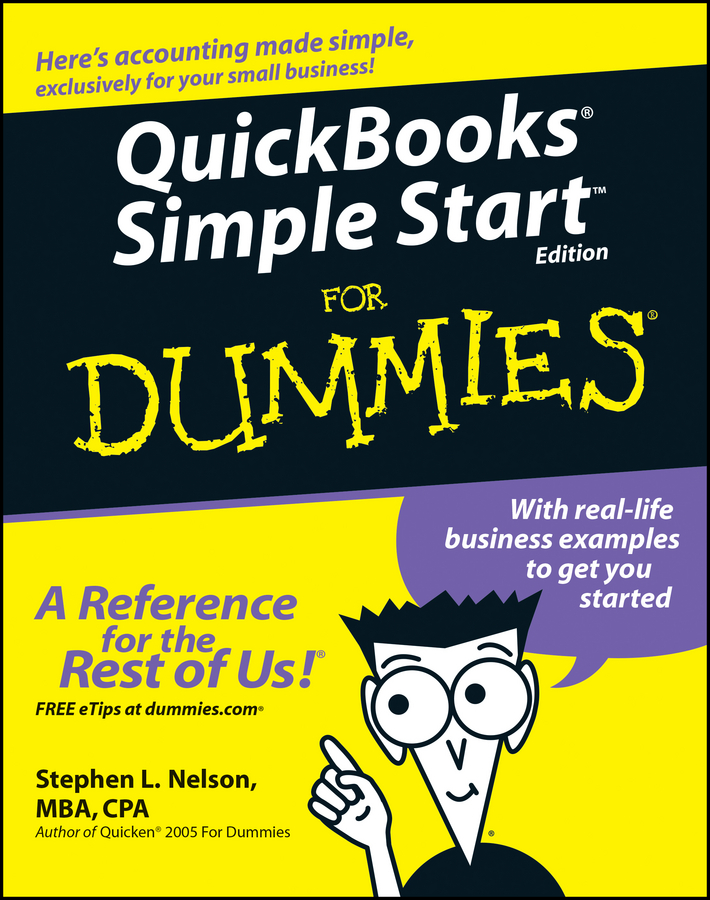 Stephen L. Nelson QuickBooks Simple Start For Dummies cut out sleeve plain top