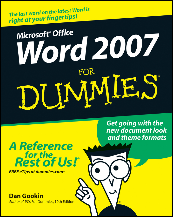 Dan Gookin Word 2007 For Dummies dan gookin troubleshooting and maintaining your pc all in one for dummies