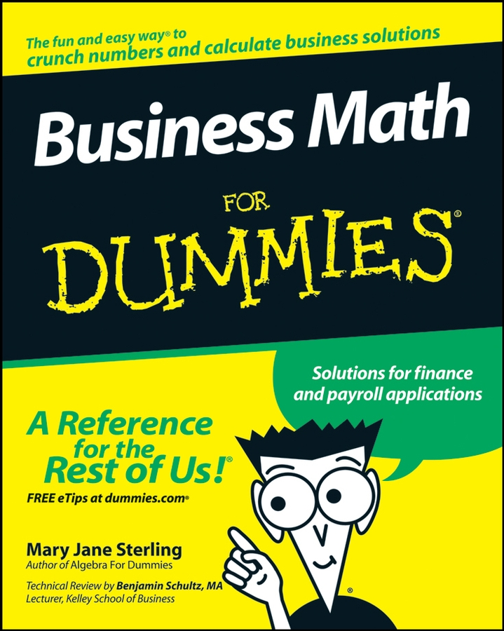 Mary Sterling Jane Business Math For Dummies flotsam and jetsam flotsam