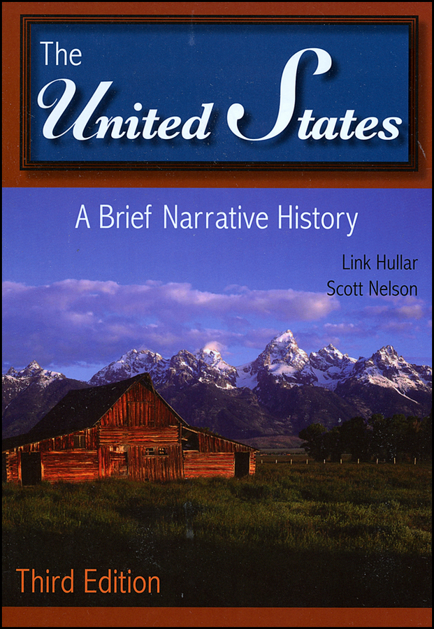 Hullar Link The United States. A Brief Narrative History a new literary history of america