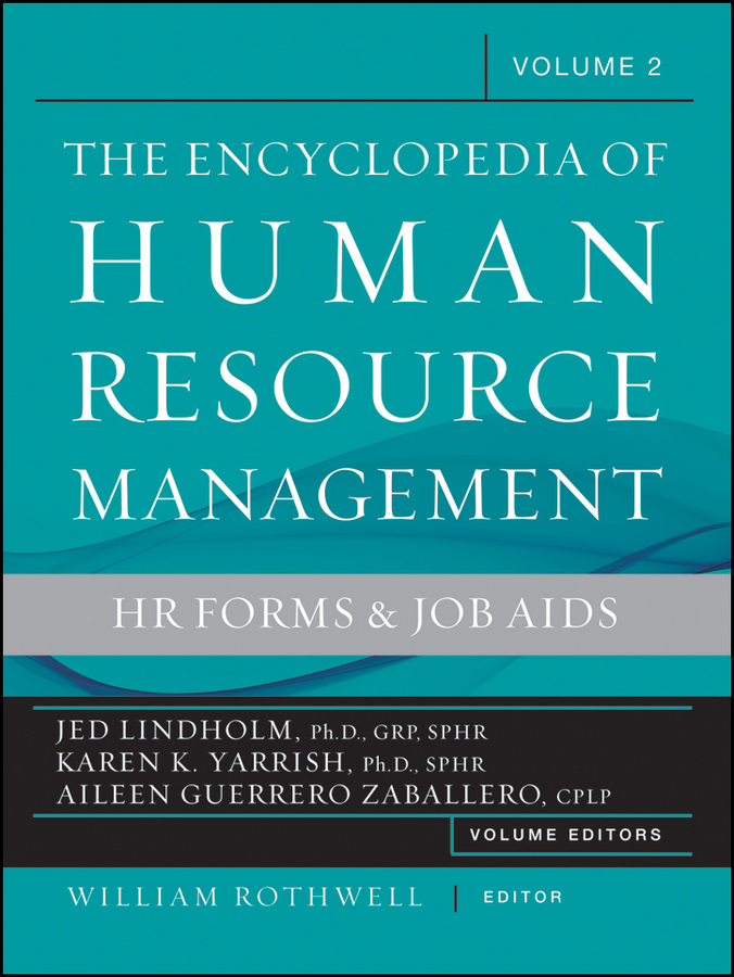 William J. Rothwell Encyclopedia of Human Resource Management, Human Resources and Employment Forms human resource management in academic libraries