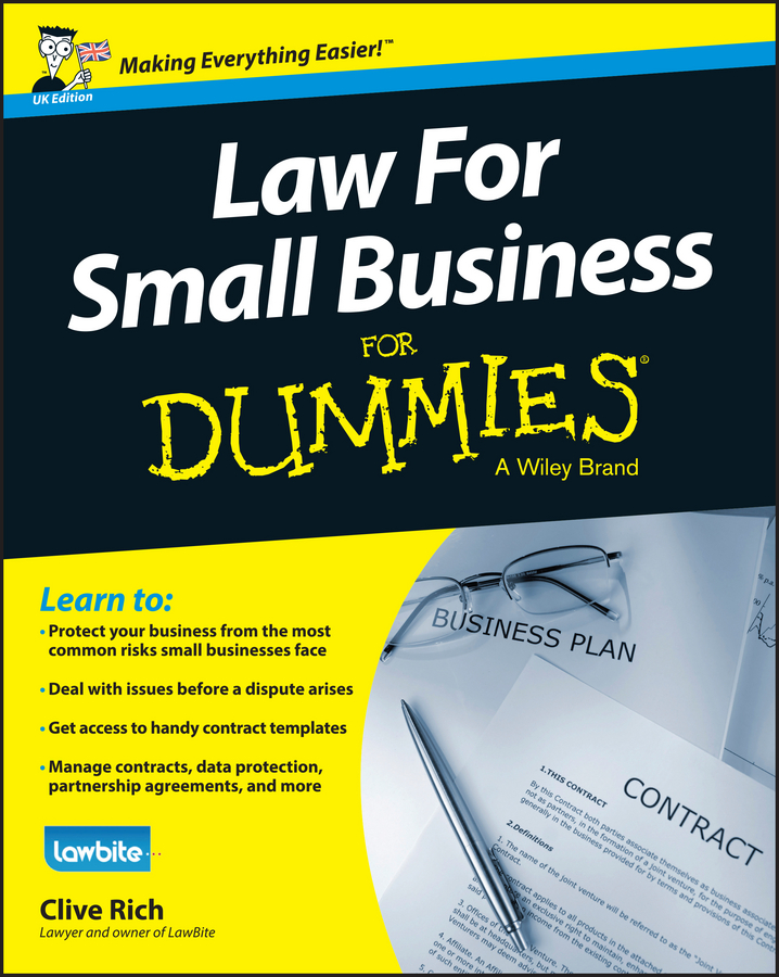 цена Clive Rich Law for Small Business For Dummies - UK онлайн в 2017 году