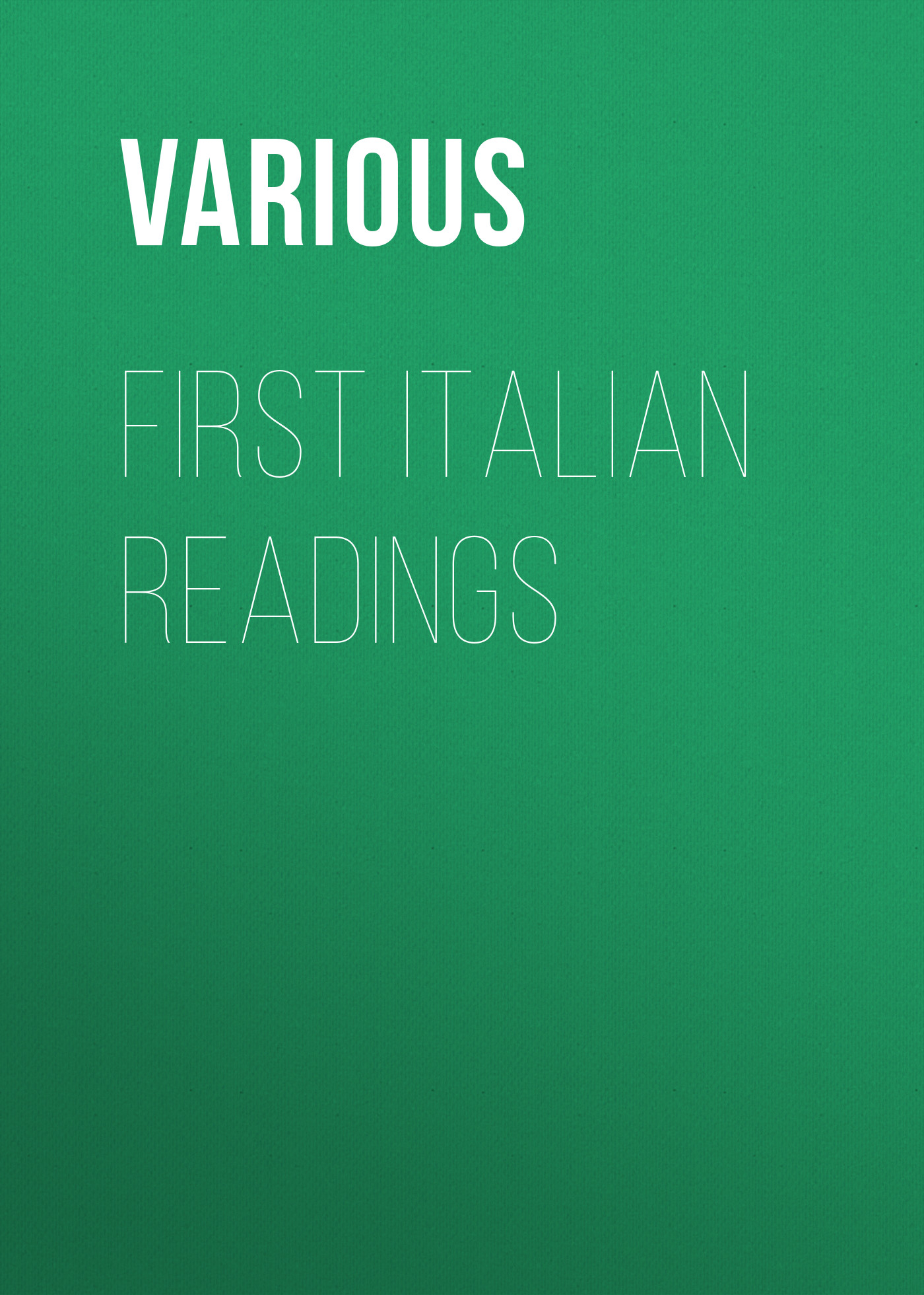 Various First Italian Readings sallie mcfague sallie mcfague collected readings
