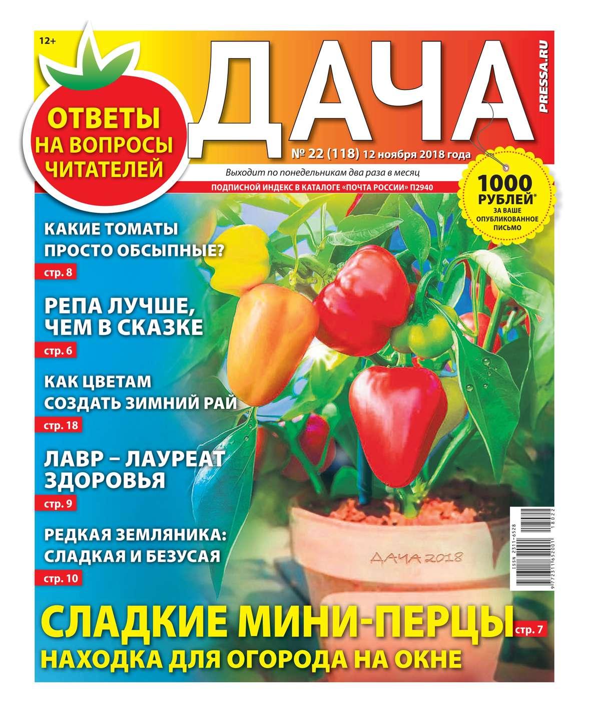 Дача Pressa.ru 22-2018