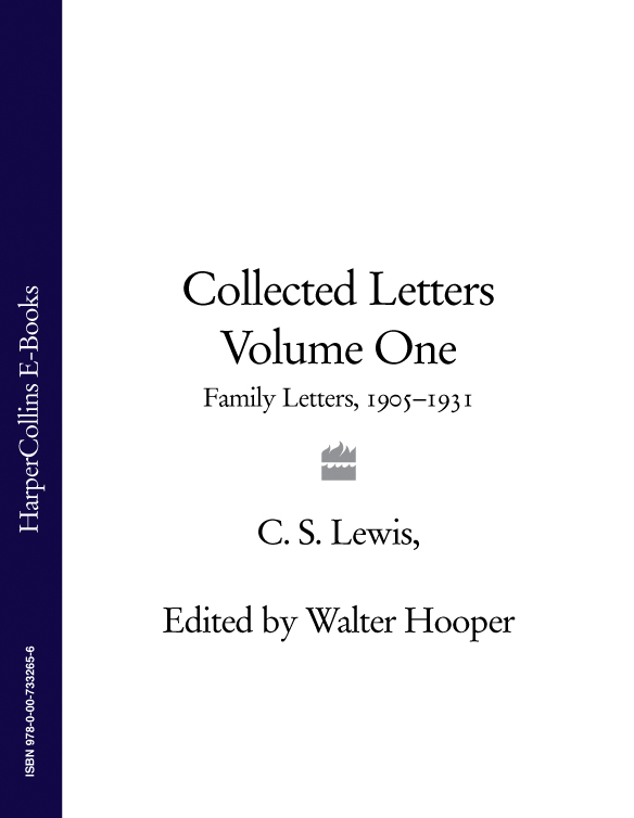 Фото - Walter Hooper Collected Letters Volume One: Family Letters 1905–1931 w260 letters unframed wall canvas prints for home decoration