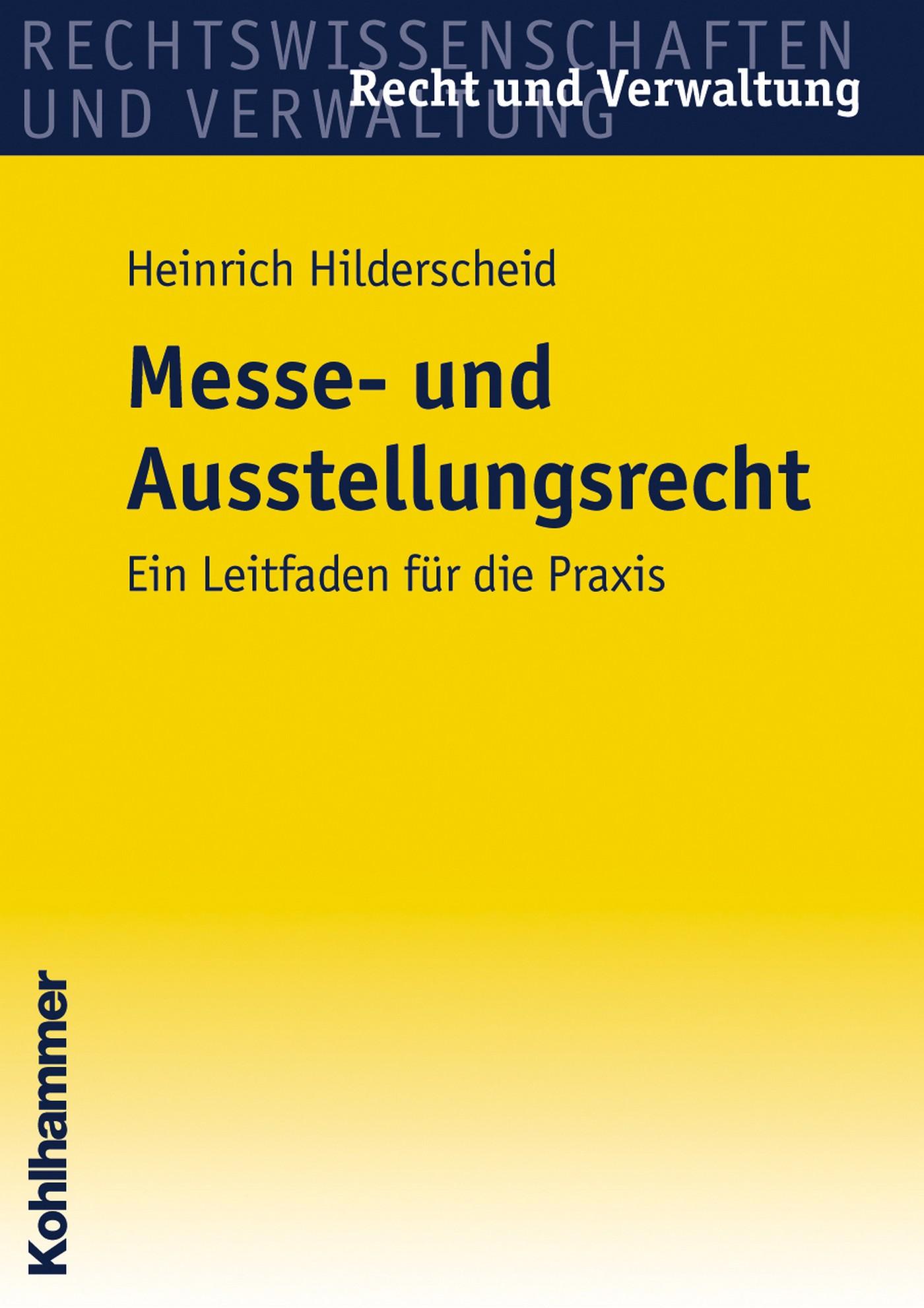 Heinrich Hilderscheid Messe- und Ausstellungsrecht