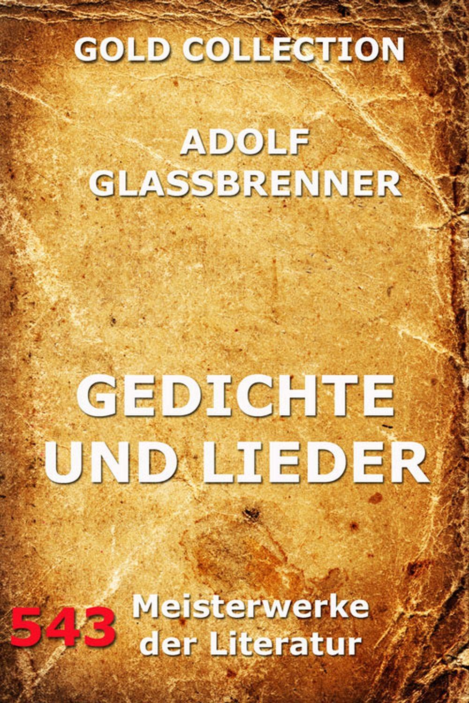 Adolf Glassbrenner Gedichte und Lieder f abt 3 lieder op 514
