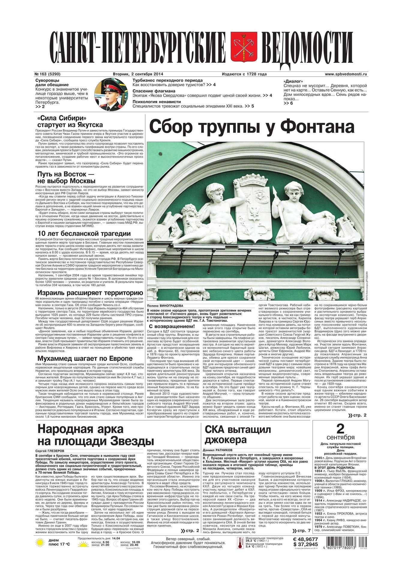 Санкт-Петербургские ведомости 163-2014
