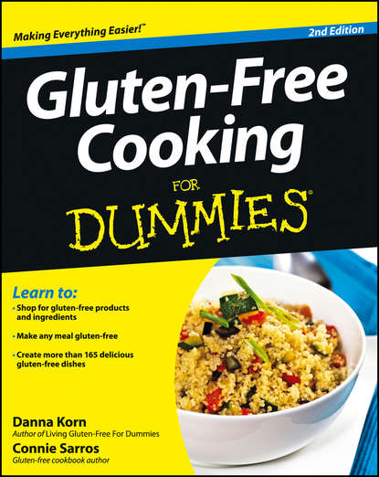 Danna Korn Gluten-Free Cooking For Dummies the complete idiot s guide to gluten free cooking