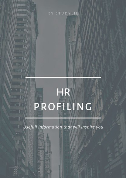 mark cook personnel selection BY STUDYLIE HR Profiling