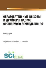 Образовательные вызовы и драйверы кадров орошаемого земледелия РФ