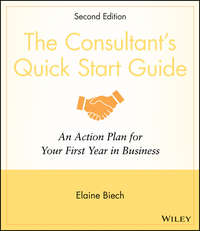 The Consultant\'s Quick Start Guide. An Action Planfor Your First Year in Business