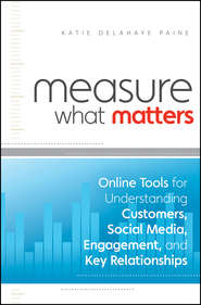 Measure What Matters. Online Tools For Understanding Customers, Social Media, Engagement, and Key Relationships