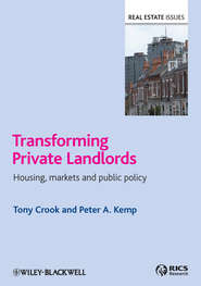 Transforming Private Landlords. housing, markets and public policy