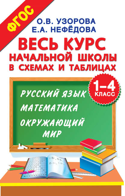 Обложка «Весь курс начальной школы в схемах и таблицах. 1–4 класс. Русский язык, математика, окружающий мир»