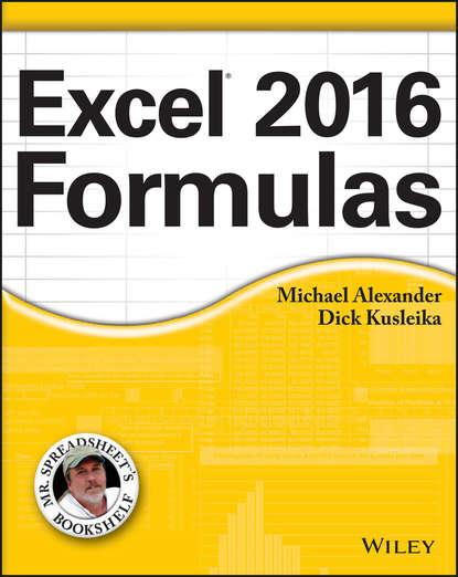 Обложка «Excel 2016 Formulas»