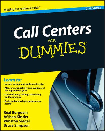 Обложка «Call Centers For Dummies»