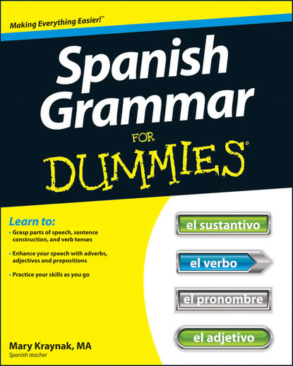Обложка «Spanish Grammar For Dummies»